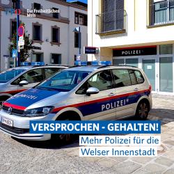 4 Mehr Polizei für die Welser Innenstadt