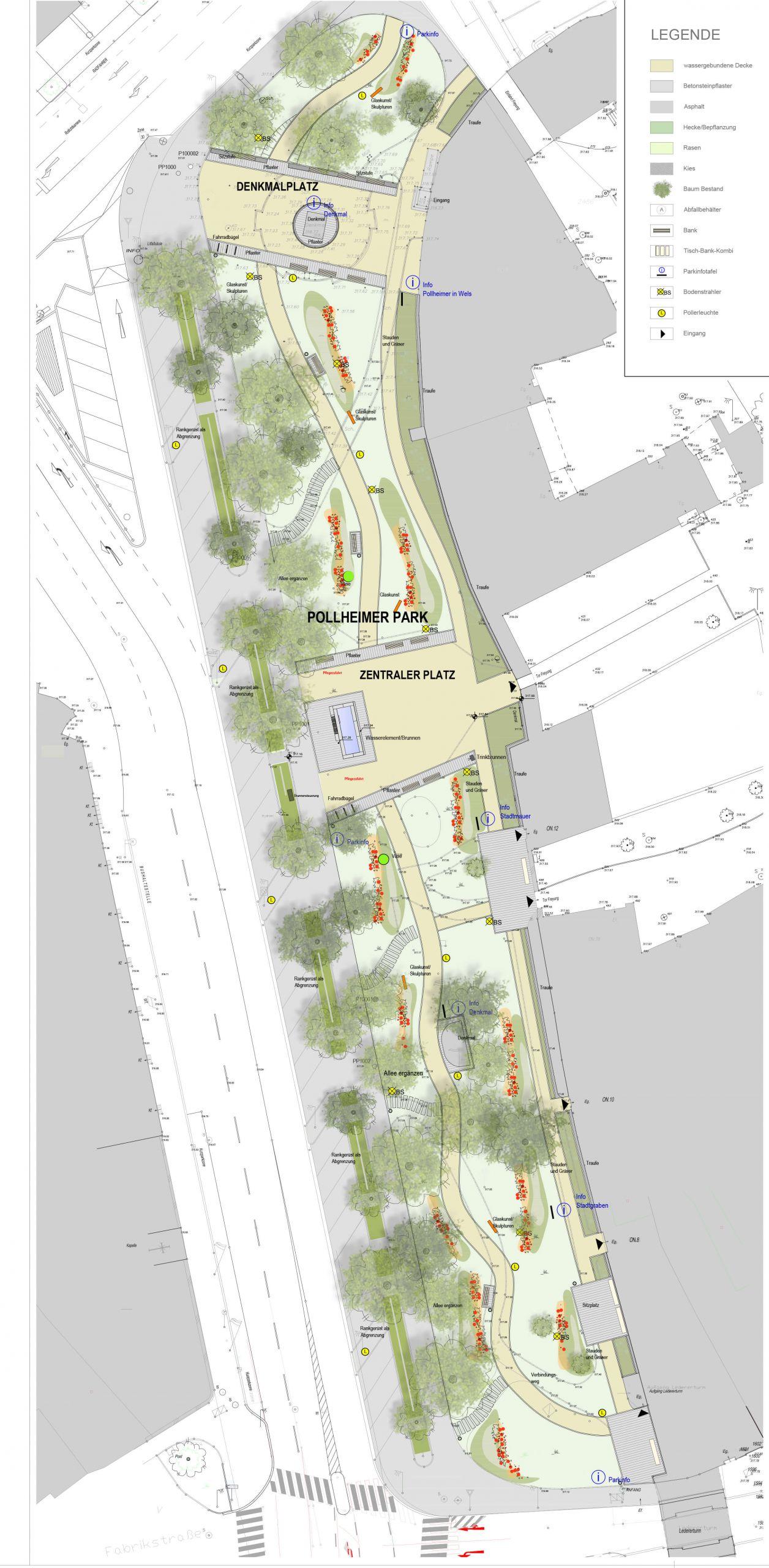 Plan für die Neugestaltung des Pollheimerparks