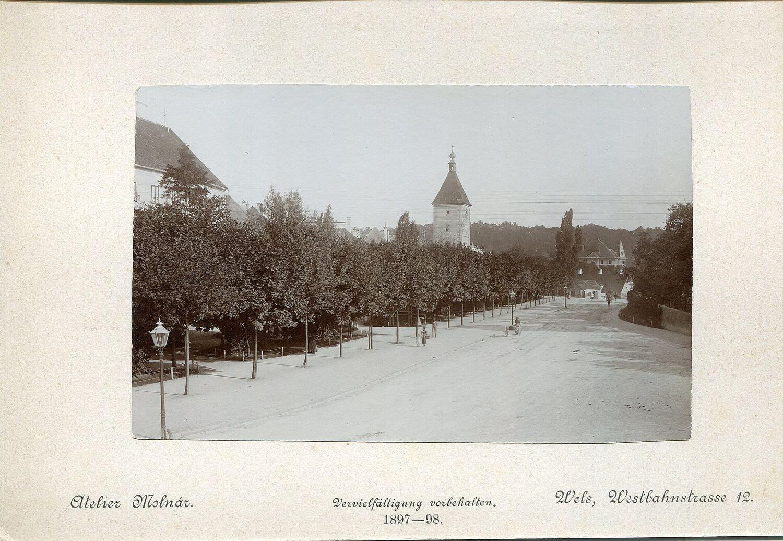 Ansicht des Pollheimerparks aus dem Jahr 1897 - 98