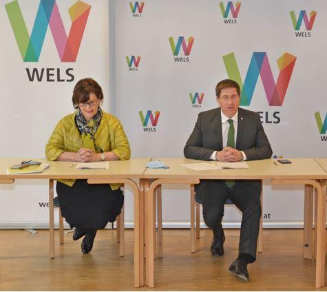 Pressekonferrenz: Bürgermeister mit Stadträtin Josseck-Herdt