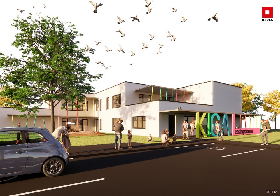 Visualisierung Kindergarten Lessingstraße Eingang